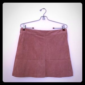 LULUS Shenandoah Mauve Suede Mini Skirt